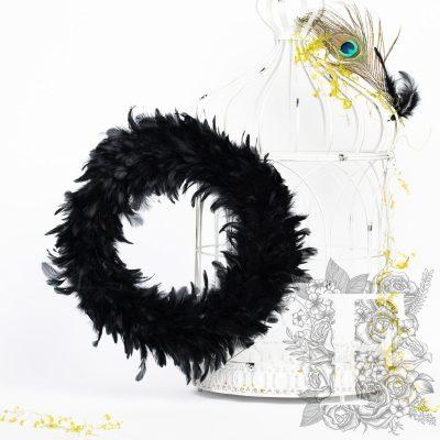 Raven Feather Wreath