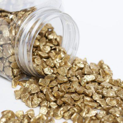 Marbles - Tub - Gold Glitter