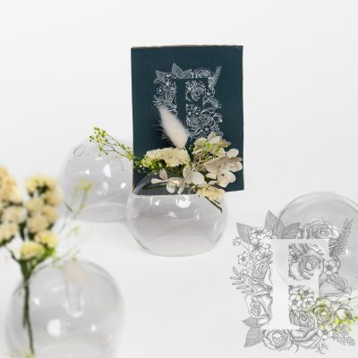 Card holder - Glass vase - single hole - 4 pack