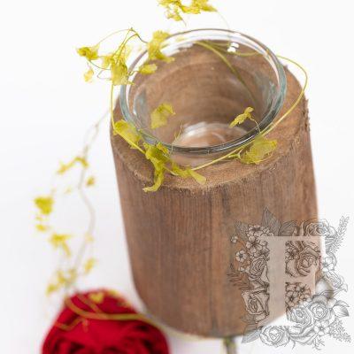 Wood Candle Holder